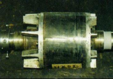 モーター軸再生溶射 溶線式フレーム溶射(ステンレス鋼)