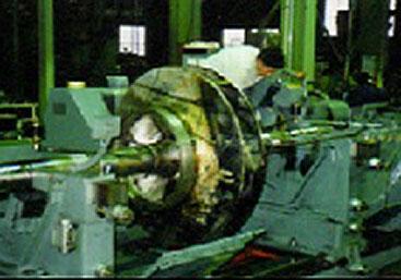 水力発電所向けポンプインベイラー 軸受部再生溶射