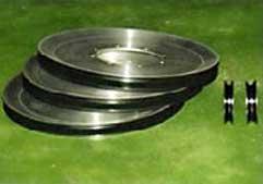 伸線機械用ガイドロール(アルミ) プラズマセラミック溶射(耐摩耗)